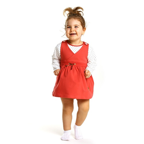 Duck Theme Baby Dress Sweatshirt Set