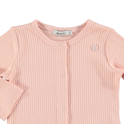 Baby Organic Pink Reported Rib Jacket