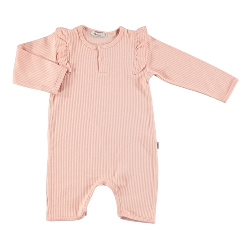 Baby Organic Pink Reported Rib Footless Romper