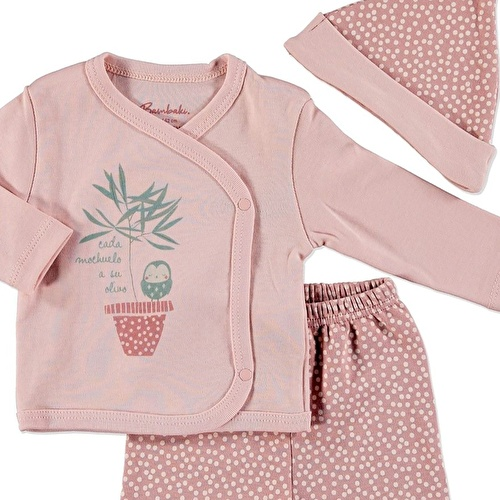 Little Star Baby Girl Bodysuit Hat Footed Pants