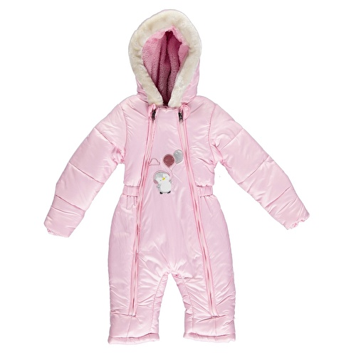 Winter Balloon Baby Girl Welsoft Lined Astronaut Snowsuit Romper