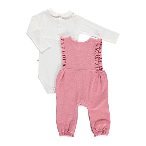 Kış Kız Bebek Bella Sweatshirt Fırfırlı Tulum 2li Takım