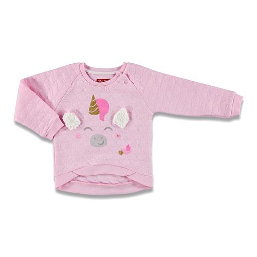 Kış Kız Bebek Büyülü Unicorn Kapitone Sweatshirt