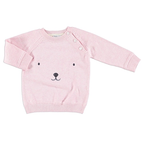 Embroidered Baby 100% Cotton Knit Jumper