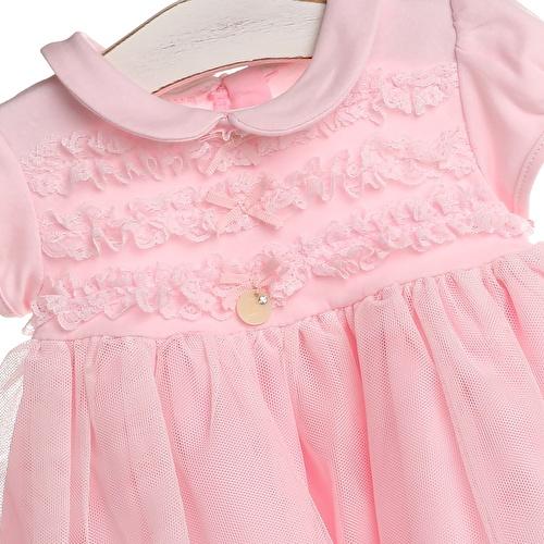 Mevlüt Fırfırlı Kız Bebek Elbise