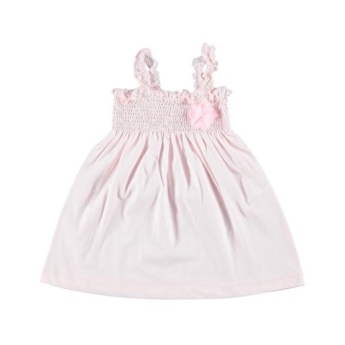 Kız Bebek Kiraz Pembe Askılı Elbise
