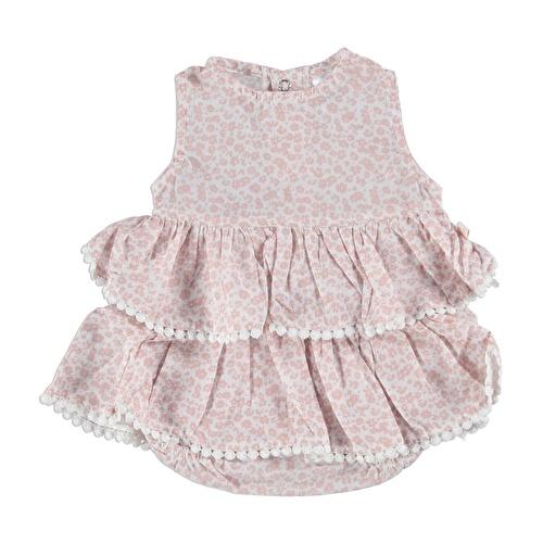 Kız Bebek Dokuma Çıtır Çiçek Elbise Body