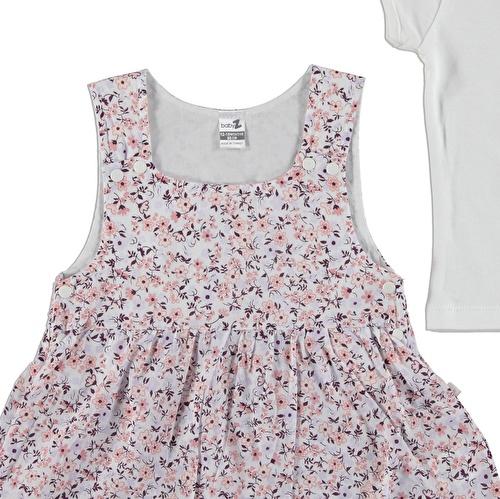 Kız Bebek Çiçek Bahçesi Elbise Ve Body Takım