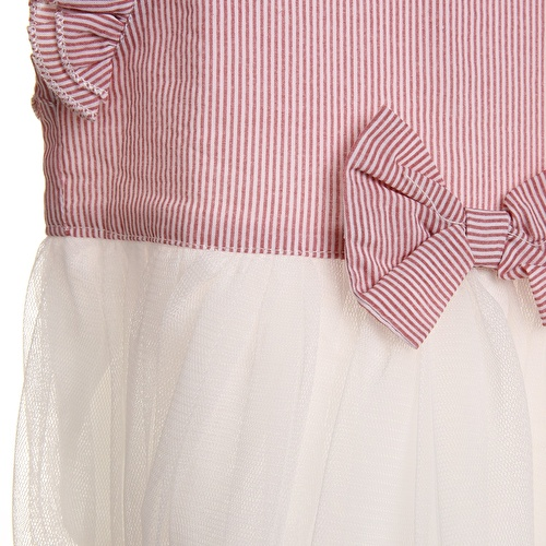 Baby Girl Texture Bow Detailed Panty Dress