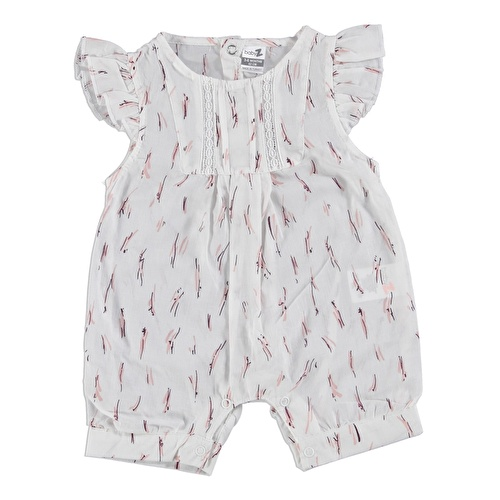 Lacy Detailed Baby Girl Short Romper
