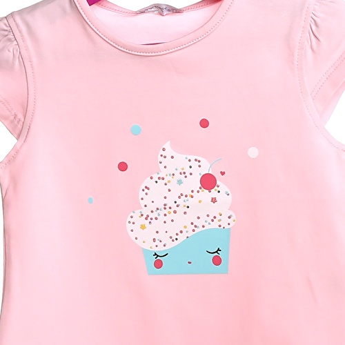 Crew Neck Baby Girl Supreme Icecream Printed Tshirt