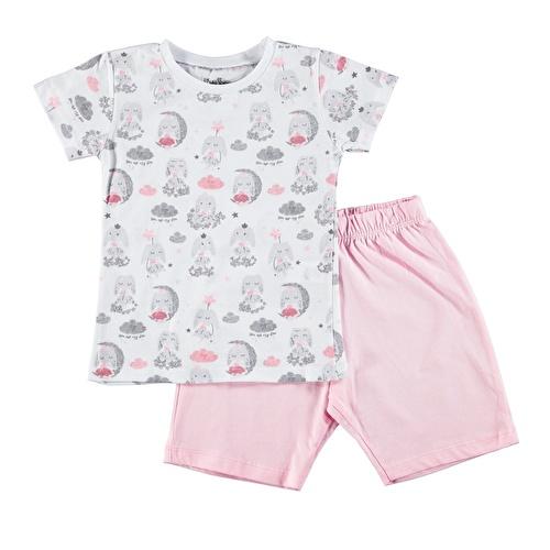 Balon Baskılı Kısa Kol Erkek Bebek Pijama Takımı