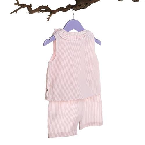 Baby Girl Pink Texture Short Romper