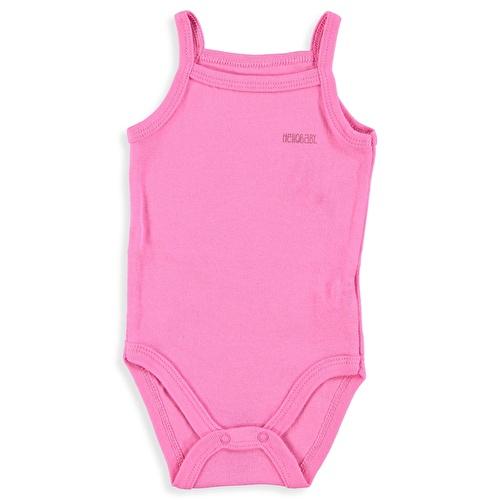 Kız Bebek Logolu Renkli İp Askılı Body