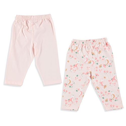Sea Horse Baby Girl Footless Trousers 2 Pack