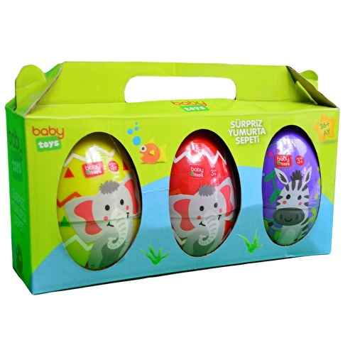 Baby 3 Pack Egg Playing Dough Toys