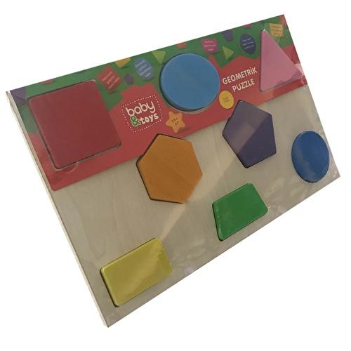 Ahşap Geometrik Bebek Puzzle