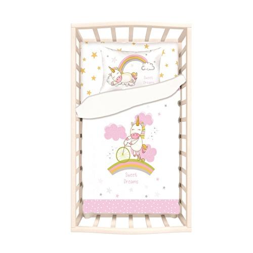 Baby Unicorn Bed Duvet Cover & Pillow Case 2 pcs Set
