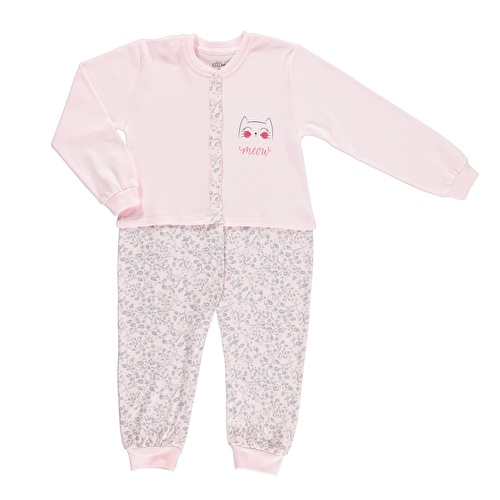 Smiling Cat Baby Snaps Footless Romper