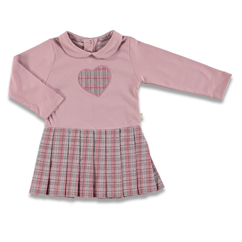 Heart Embroidered Baby Girl Dress