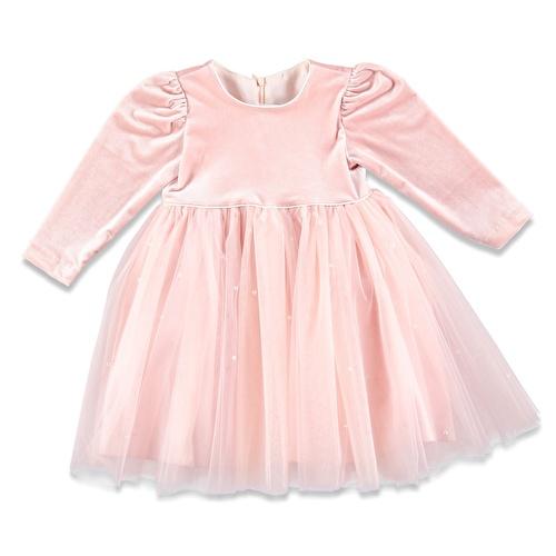Kış İnci Detaylı Abiye Kız Bebek Elbise