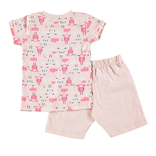 Sheep Feature Printed Short Sleeve Baby Girl Pyjamas