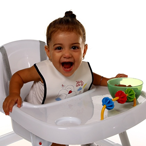 Hello World Fun Friend Poli Baby Strap Apron/Bib