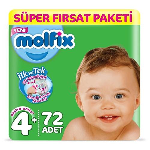 Baby Diapers Size 4+ Maxi Plus Super Value 9-16 kg 72 pcs