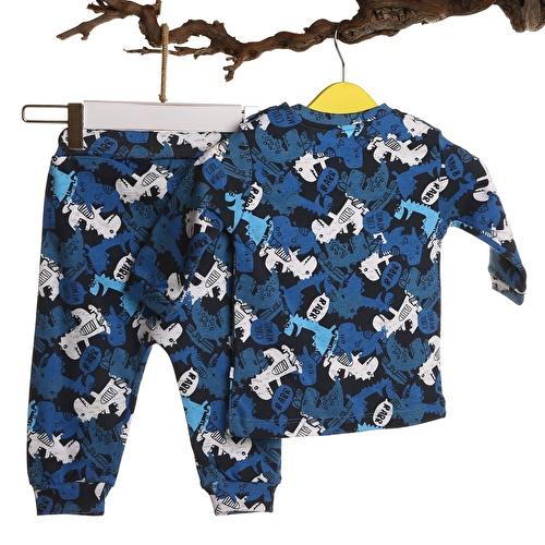 Baby Boy Interlock Skateboarding Dino Pyjamas Set