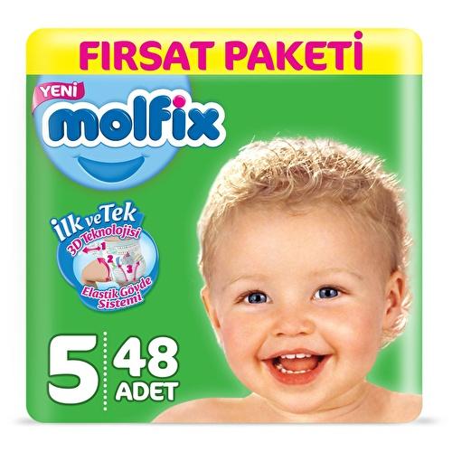 Bebek Bezi 5 Beden Junior Fırsat Paketi 11-18 kg 48 adet