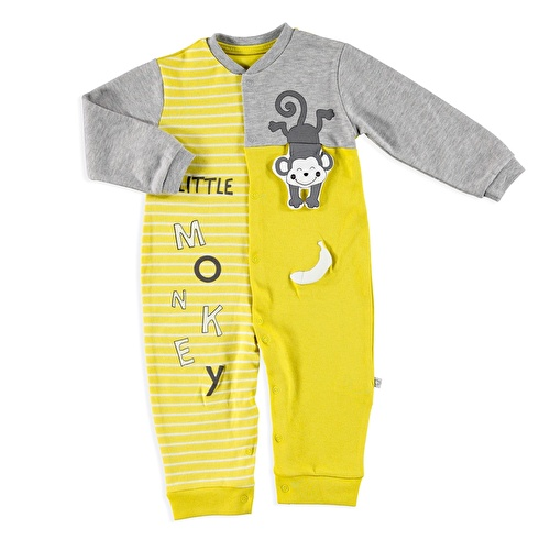 Fun Monkey Baby Footless Romper