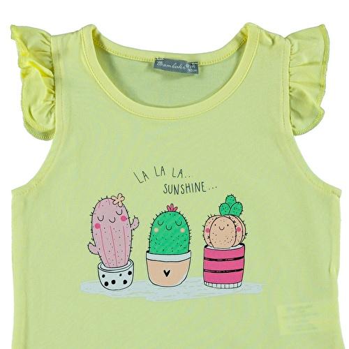 Yaz Kız Bebek Havalı Kaktüsler Süprem Tshirt