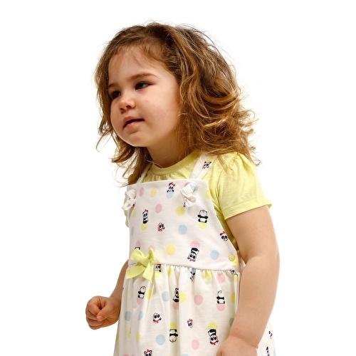 Ballon Panda Baby Girl Jumper Tshirt Set