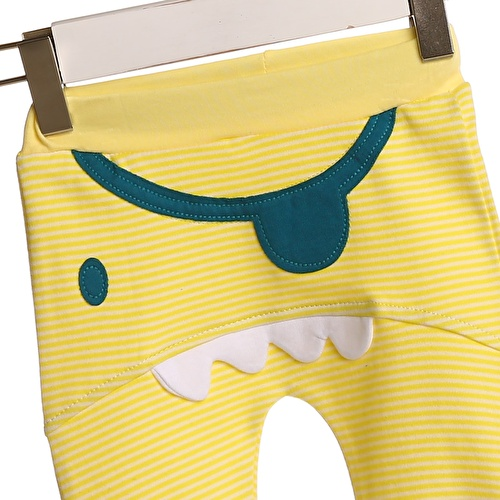 Baby Boy 3D Monster Pirate Figured Rib Trousers