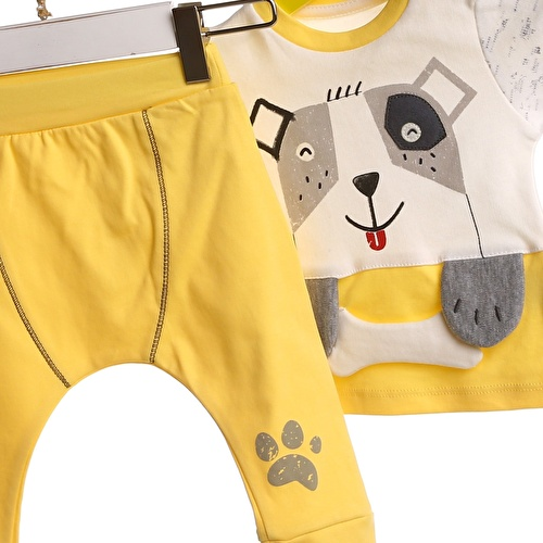 Baby Boy Interlock 3D Detailed Sweatshirt Trouser