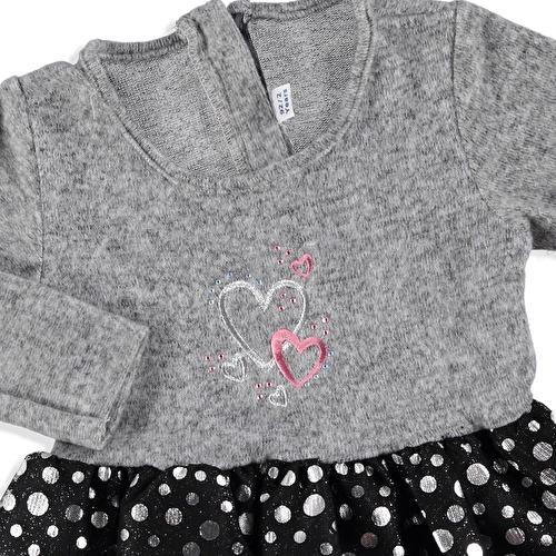 Kış Puanlı Tül Kız Bebek Elbise