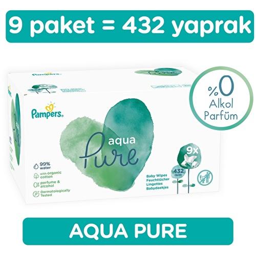 Pampers Aqua Pure Wet Towel 9x48 pcs