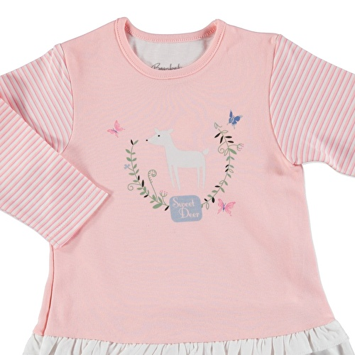 Butterfly Baby Girl Lacy Detailed Long Sleeve Dress Bodysuit