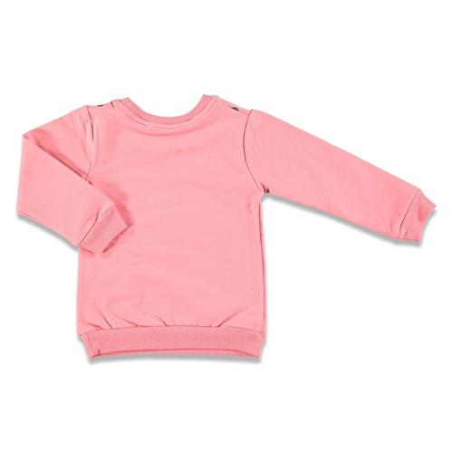 Parlak Kulaklı Tavşan İki İp Baskılı Kız Bebek Sweatshirt