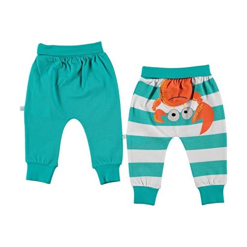 Baby Boy Striped Boy Footless Trousers 2 pcs