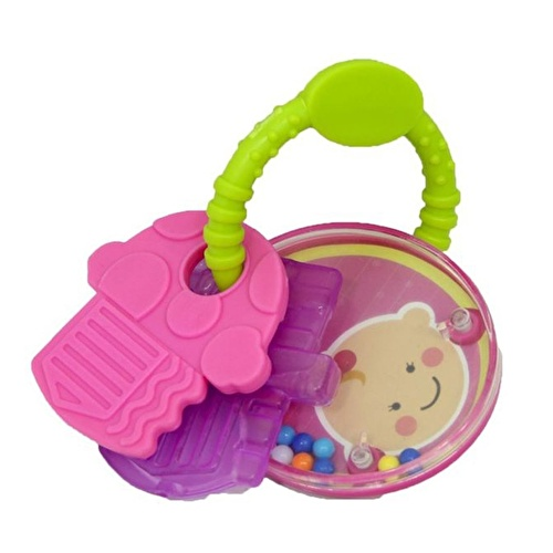 Printed Gel Baby Teether Set with Rattle
