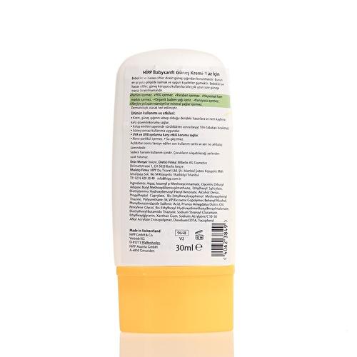 Babysanft Güneş Kremi Yüz İçin 30 ml