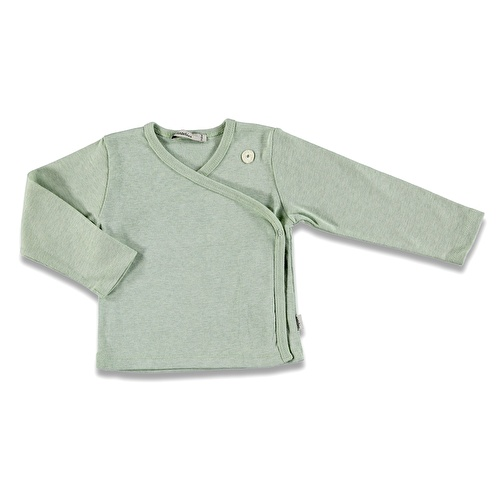 Organic Baby Green Wool Rib Knit Cardigan