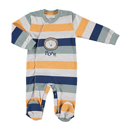 Lion Baby Snaps Footed Romper