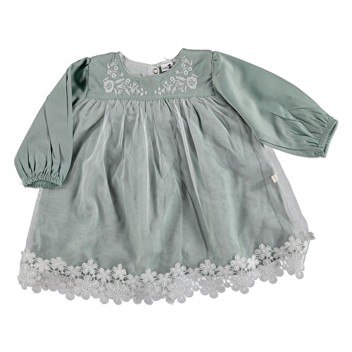 Baby Girl Lacy Embroidered Dress