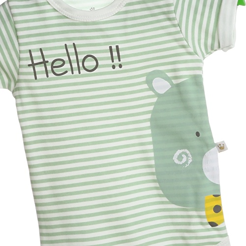 Bertin Baby Striped Short Sleeve Bodysuit