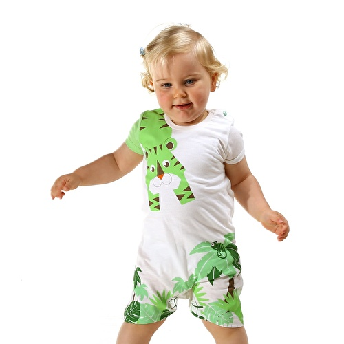 Forest Baby Boy Short Sleeve Jumpsuit