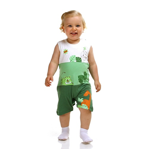 Forest Baby Boy Sleeveless Jumpsuit