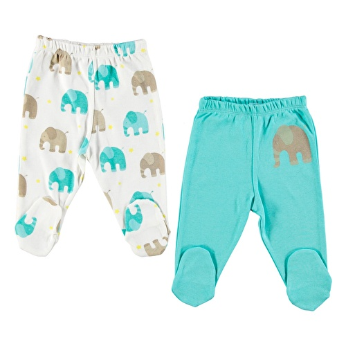 Baby Boy Elephant Trousers 2 Pack
