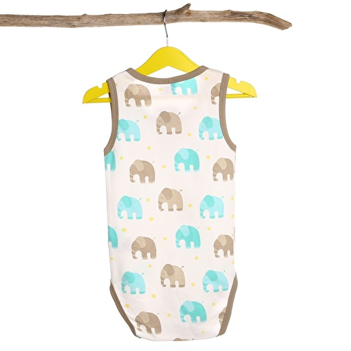 Baby Boy Elephant Athlete Bodysuits